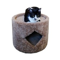 New Cat Condos Premier Cat Cave, Brown by New Cat Condos