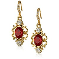 """Downton Abbey"""" Jeweled Heirlooms Carded""""クリスタルドロップイヤリング"""