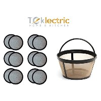 Teklectric 8 – 12 Cup Permanentミスターコーヒーbasket-styleコーヒーフィルタ& 12のセット水フィルターfor Mr。CoffeeコーヒーメーカーとBrewe...