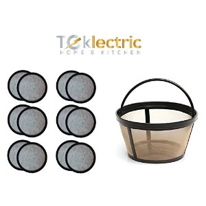 Teklectric 8–12Cup Permanentミスターコーヒーbasket-styleコーヒーフィルタ& 12のセット水フィルターfor Mr。CoffeeコーヒーメーカーとBrewer