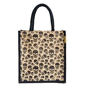 Jute lunch bag Size: 11x9x6 inches