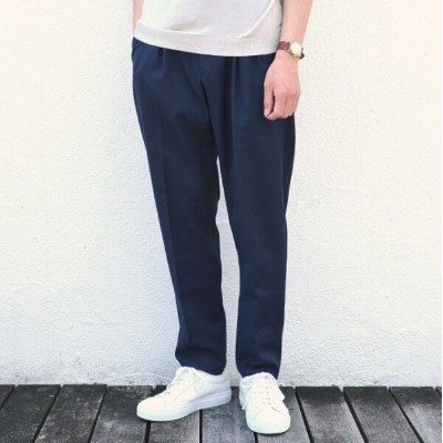 G.T.A(ジー・ティー・アー)/ 2PLT CROPPED / WOOL TRO NATURAL STRETCH -(820)NAVY-