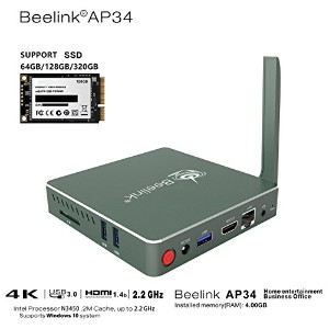 BeelinkAP34 FANレス 静音Mini PC windows 10 Intel Apollo Lake Processor N3450(2M Cache, 2.2 GHz) Intel...