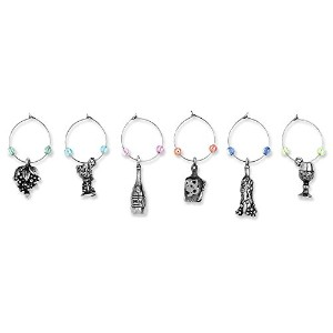 Epic Products AガラスA Day MyガラスCharms ( Set of 6)、マルチカラー