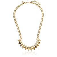 "Rebecca Minkoff金メッキ人工パールSpike Necklace , 16 "" + 2 "" Extender"