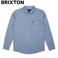Brixton Central L/S Woven Shirt Light Blue Chambray S シャツ 送料無料