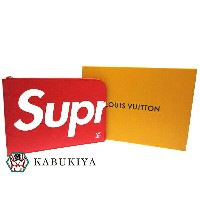 LOUIS VUITTON×SupremePochette Jour GM Red clutch bag M67722 ルイヴィトン シュプリーム クラッチバッグ Red ポシェットジュールメンズ...