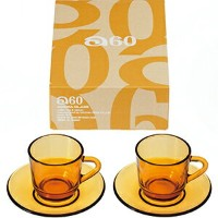 a60コーヒーセット(2客)【ギフト/贈り物/プレゼント/ガラス食器/石塚硝子/アデリア】