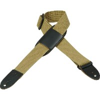 Levy's レビース / Cotton Youth Guitar/Ukulele Strap MC8PJ-Tan / Moveable Leather Pad