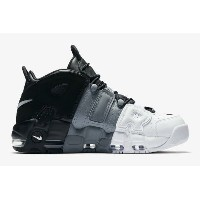 "Nike Air More Uptempo ""Tri-Color"" メンズ Black/Black/Cool-Grey-White ナイキ バッシュ モアアップテンポ"
