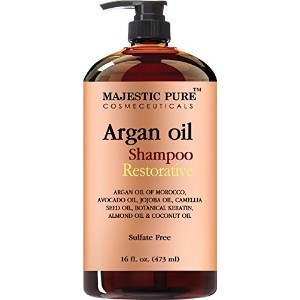 Argan Oil Shampoo from Majestic Pure Offers Vitamin Enriched Gentle Hair Restoration Formula for...