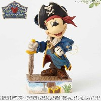 ジムショア 海賊ミッキーの冒険 ディズニー 4056760 Set Sail For Adventure-Pirate Mickey Figurine JimShore □