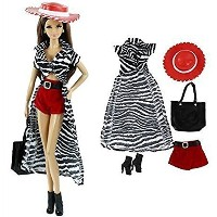 [DLKJ178]DLKJ178 5in1 Set Skirt+shorts+bag+shoes+hat Fashion Outfit for Barbie Doll [並行輸入品]