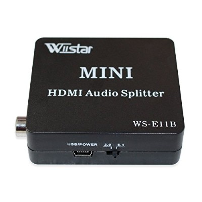 Wiistar HDMIオーディオ抽出器HDMI to HDMI and光学式Toslink SPDIF同軸+ 3.5 MMステレオスプリッタコンバータ DVD HDTV ps4可能