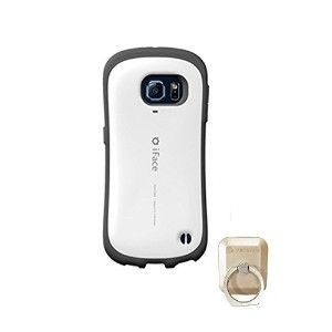 【iFACE]アイフェイスFirst Class Galaxy S7ケースカバー+、Rubystone CellPhone Ring、Finger Ring Holder (white) ...