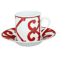 Hermes エルメス ガダルキヴィール Coffee cup and saucer コーヒーカップ&ソーサー 100ml 011017P 2個セット [並行輸入品]