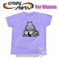 Crazy Shirts(クレイジーシャツ)-Womens- S/S Mini Tee @Lavender Dyed[1021089] Kliban Yoga Cat クリバンキャット 半袖...