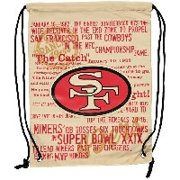 NFL 49ers ヒストリック キャンバス バックパック/リュック メンズ フォーエバーコレクタブルズ/Forever Collectibles