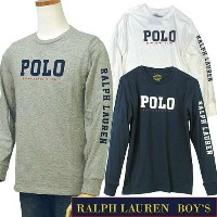 POLO by Ralph Lauren Boy'sラルフローレン 長袖 T シャツPOLOロゴ プリント長袖 T シャツ【2017-Fall/NewColor】