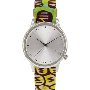 【送料無料】【Komono kom-w2850?Estelle Vlisco WomensステンレススチールCase MultiレザーSilver Watch】 b00wdykns0