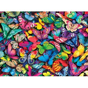【送料無料】【[バッファローゲーム]Buffalo Games Vivid Collection: Butterflies Jigsaw Bigjigs Puzzle 11704 [並行輸入品]】 b00yfr1lru