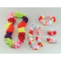 Bristol Novelty Multi Hawaiian Leis. Silk Flowers Costume Accessories - Men's - One Size