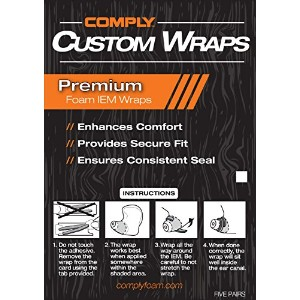 Comply(コンプライ) Custom Wraps for CIEMs - Custom Molded In-Ear Monitor Enhancement, Made with Soft...