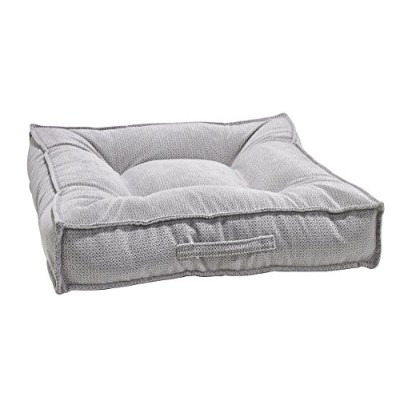 Bowsers 14015 Piazza Dog Bed, Large, Silver Treats by Bowsers