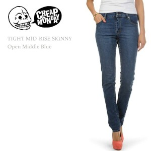 【SALE】Cheap Monday(チープマンデー) Tight Open Middle Blueスキニー/スキニーデニム