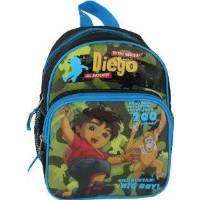 "Mini Backpack - Go Diego Go - Big Boy 10"" New School Bag Boys Book 812895"