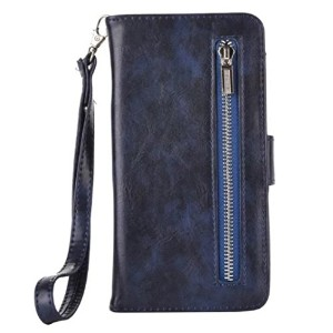 Galaxy A3 2017 Zipper Wallet Bag Stand Case, Vintage Style Fashion Foldable Cover, Money Name ID...