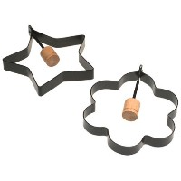 Norpro Nonstick Star and Flower Pancake Egg Rings, Set of 2 by Norpro