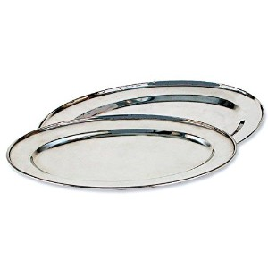 "Oval Serving Tray、14 "" 16"" シルバー"
