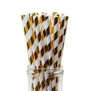 Geeklifeテつョ Reusable Paper Straws,100% Biodegradable,Perfect for Birthdays, Weddings, Baby Showers...