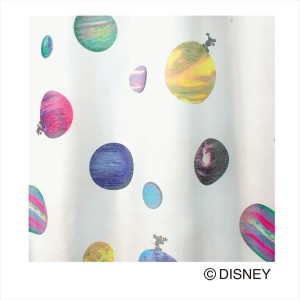 Disney MICKEY Cosmo Voile&Lace100×198cm 1.5倍ヒダ 1枚 既成カーテン ボイル、レースレースカーテン MICKEY 日本製(代引不可)(送料無料...
