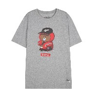 Line Friends Store Official Goods : Beat Brown Loose Fit Short Sleeve T-shirts (Melange)