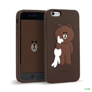 iPhone6s カバー Line Friends Character (Brown) アイフォン6s アイフォン6