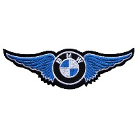 BMW Blue Twin Wing Vintage Motorcycles Motorsport Iron on Patches PB22 by MartOnNet BMW Patch