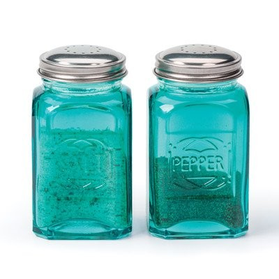 Retro Salt and Pepper Shaker (Set of 2) Color: Turquoise by RSVP-INTL