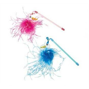Ethical Products Flamingo Mini Teaser Wand With Catnip Assorted Interactive Toy