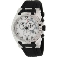 Police ポリス メンズ 腕時計 Men's PL-13092JS/04 Raptor Silver Chronograph Day-Date Rubber Watch