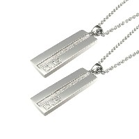 DUB Collection Plate With Mat Line Necklace プレートウィズマットラインネックレス ペア SV925 シルバー DUBj-1-Pair