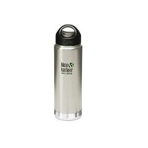 KLEAN KANTEEN WIDE MOUTH 592ML VACUUM INSULATED BOTTLE (BRUSHED STAINLESS)