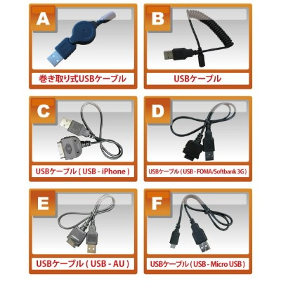 USBケーブル一本213円!【USB-iPhone☆USB‐Micro USB☆USB‐FOMA/Softbank 3G☆USB‐AU】【変換式USBケーブル 】