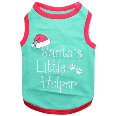 ParisianペットSanta 's Little Helper犬Tシャツ、3 x l