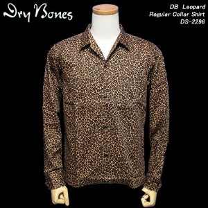 DRY BONESドライボーンズ◆DB Leopard Regular Collar Shirt◆DS-2296