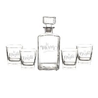 Cathys概念Be Merry Whiskey Decanter Set H16-S1193