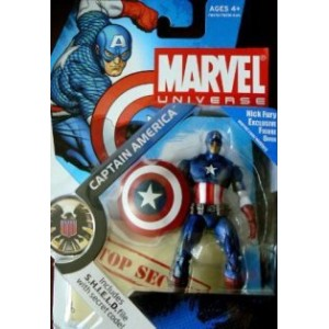 Captain America! キャプテン・アメリカ フィギュア Nick Fury Exclusive Figure! - Includes S.H.I.E.L.D. File with...