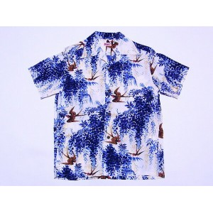SUN SURF[サンサーフ] アロハシャツ SWALLOW UNDER WISTERIA SS36013 (NAVY) 送料無料 代引き手数料無料