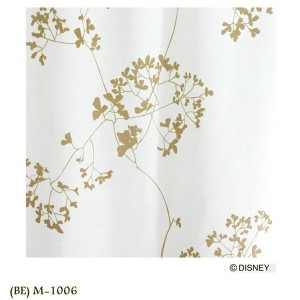 Disney MICKEY Twig leaf VOILE Voile&Lace100×133cm 1.5倍ヒダ 1枚 既成カーテン ボイル、レースレースカーテン MICKEY 日本製(代引不可)...